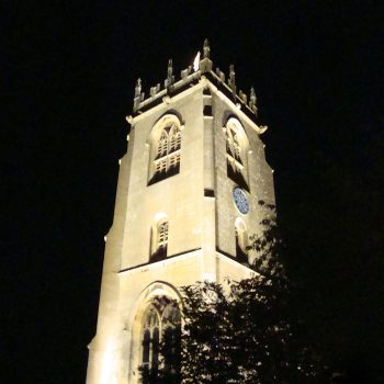 St Peters Church at night